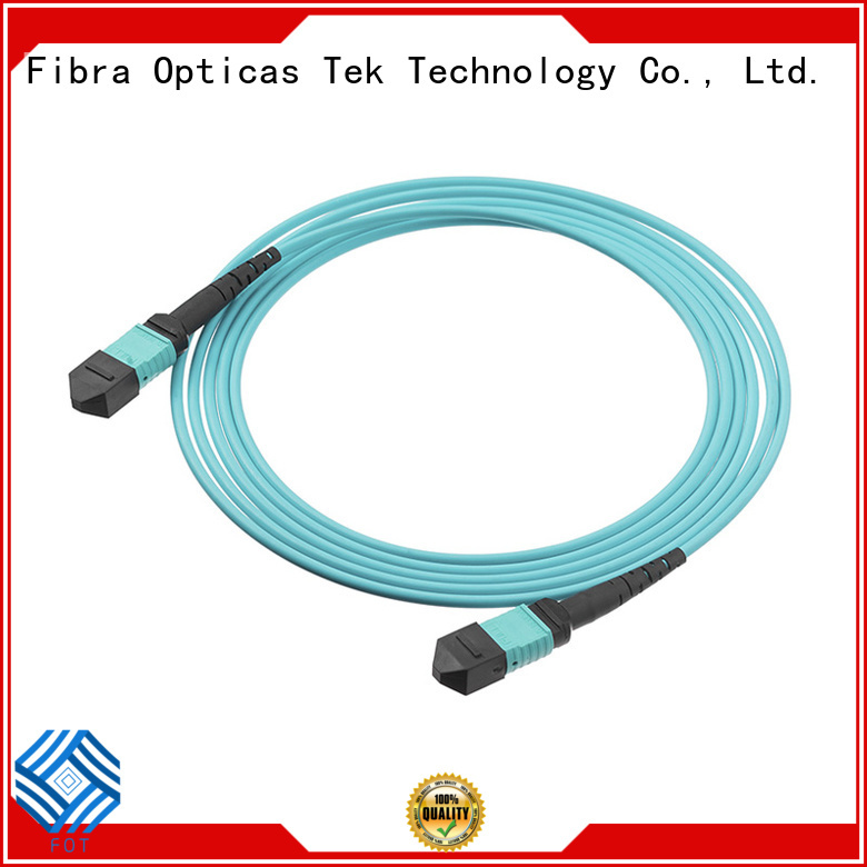 FOT High-quality mpo mtp patch cord Supply used in Ribbon type multi fiber assemblies
