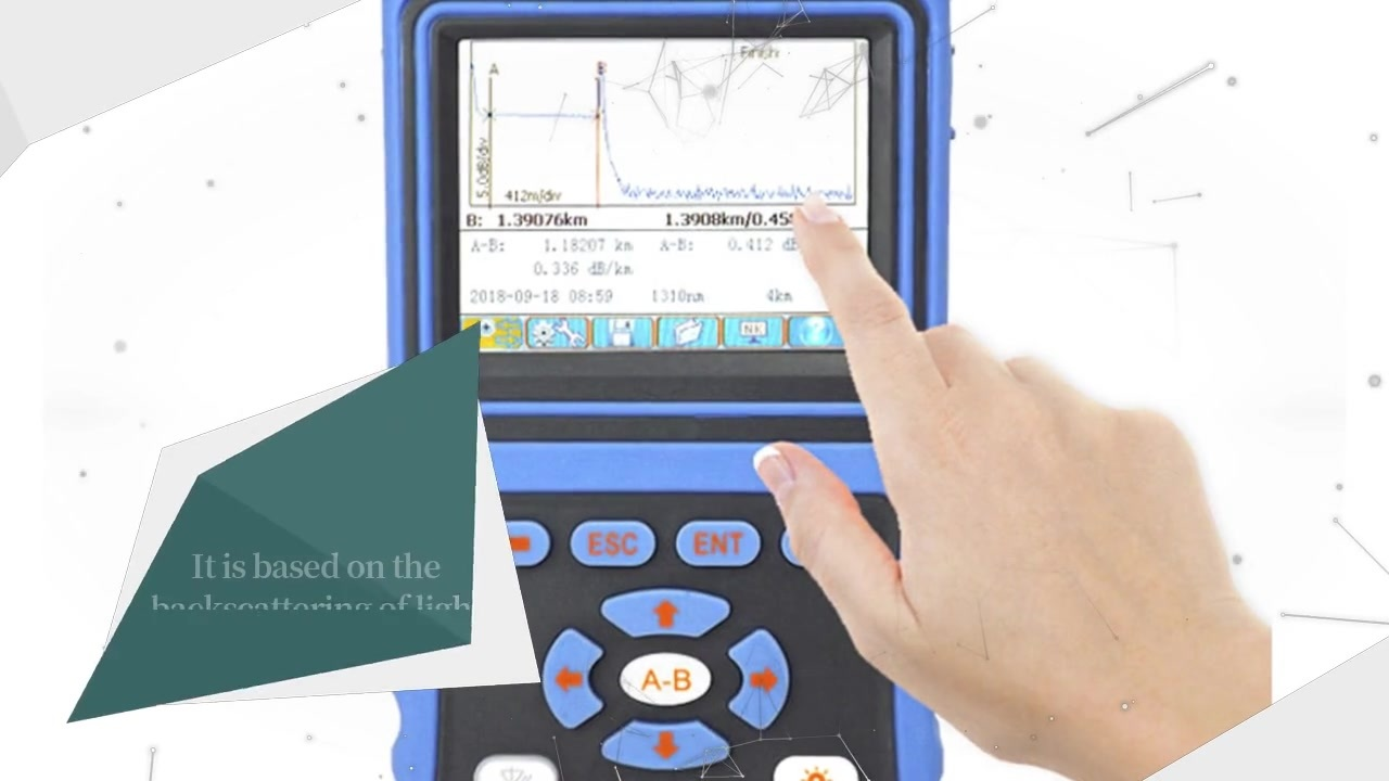 FOT3302B Handheld OTDR with VFL for FTTx
