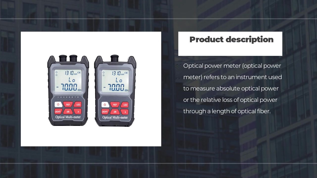 FOT3234 Mini Optical fiber power meter, VFL&RJ45 Tester optional